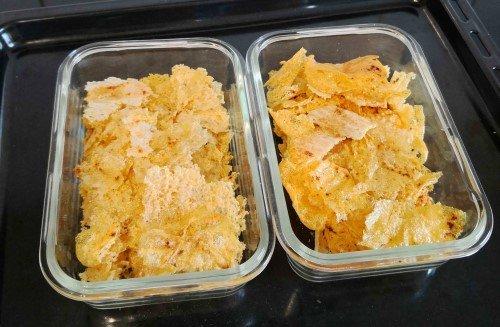 Harzer Käse Rezepte - High Protein Harzer Käse Chips fertig