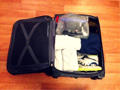 My fitness packing list for (business) trips – the gym in my suitcase